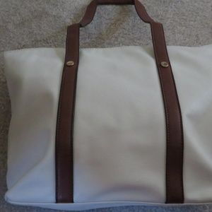 BECKY & GENE FASHION LARGE CREAM HANDBAG
